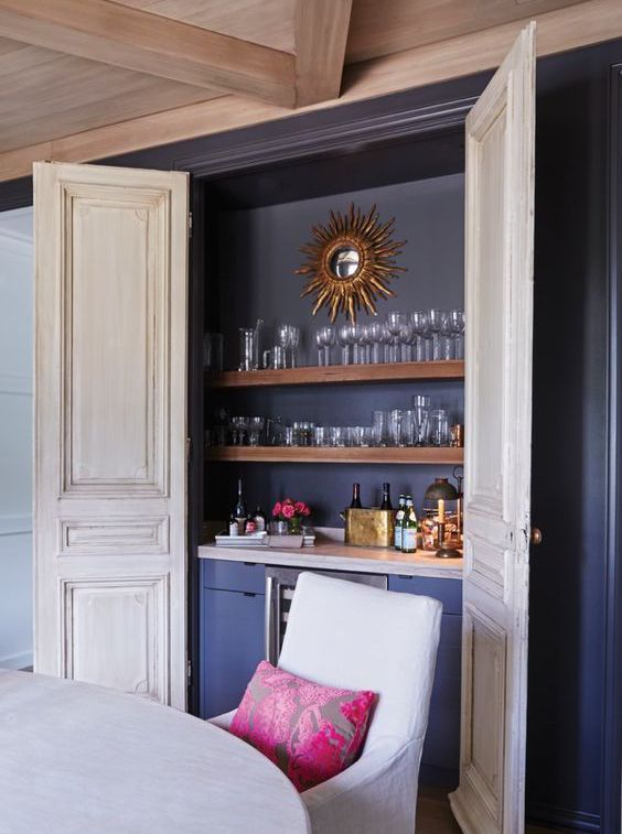 Dining Room Bar In A Closet