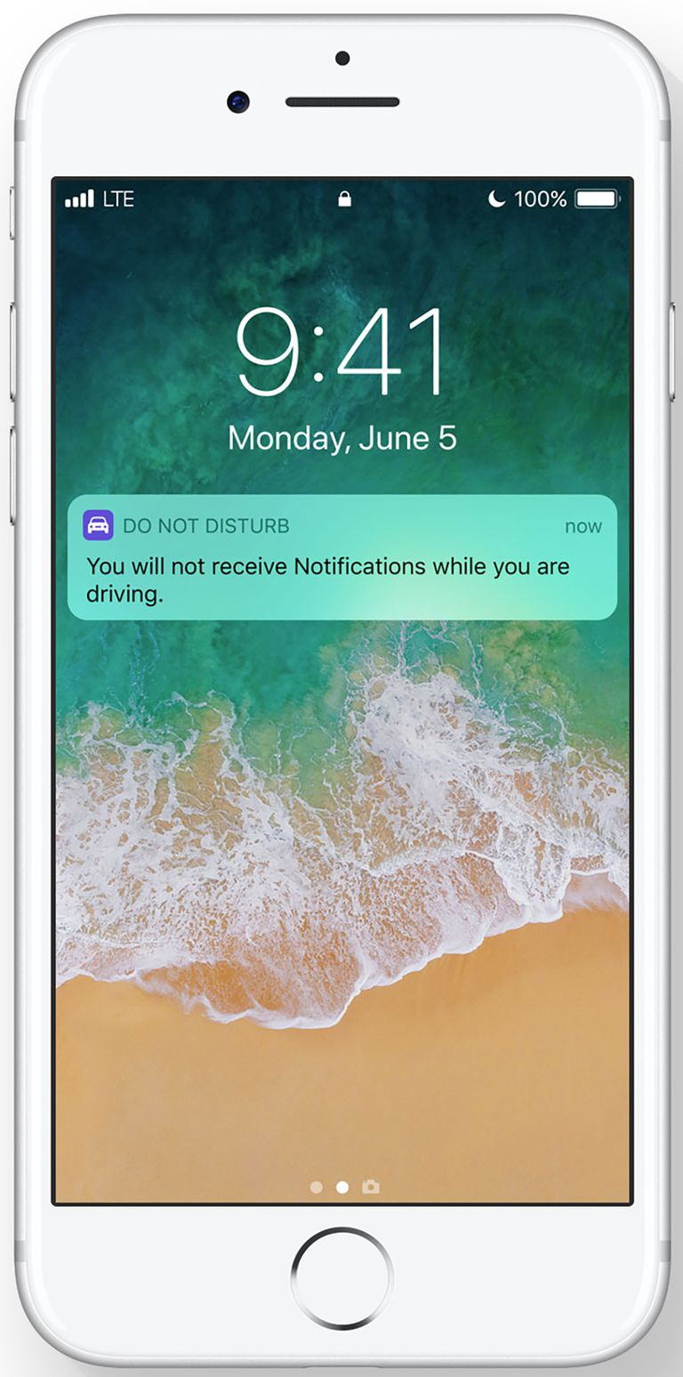 iOS 11 Jangan Ganggu Semasa Memandu