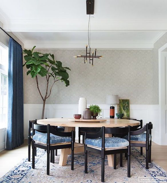 Dining Room With Wallpaper Amber Interior Design