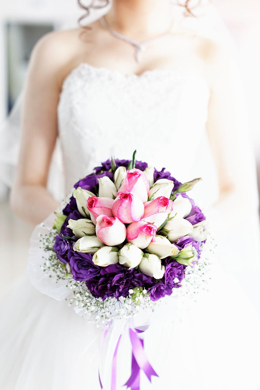 Spring purple bridal bouquet biedermeier bouquet junglespirit Choice Image