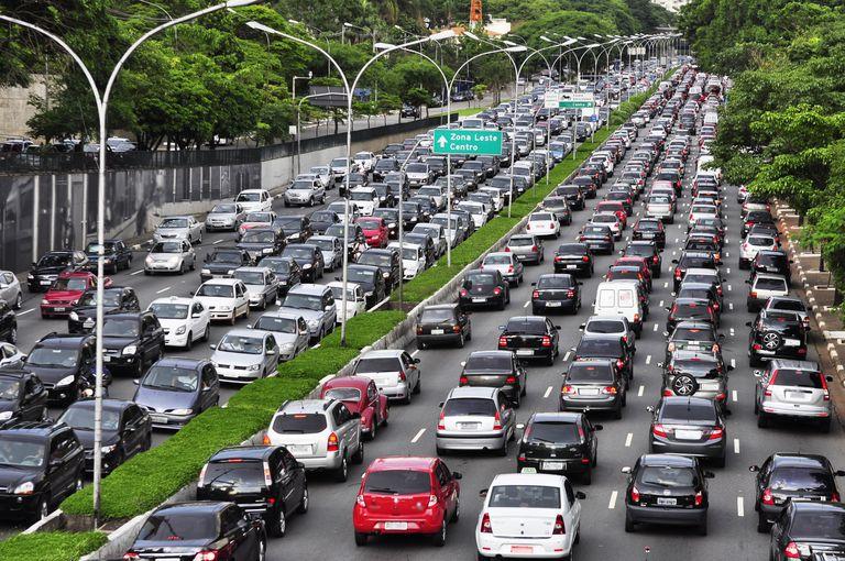 traffic jam in Sao Paulo