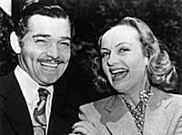 Clark Gable & Carole Lombard after their 1939 elopement. Photo by Keystone/Getty Images.