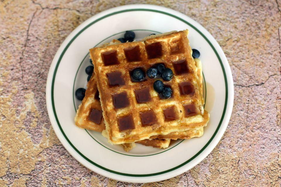 Lightly Sweetened Waffles