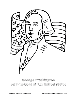 Print The Pdf George Washington Coloring Page And Color Picture Use Your Back Button To Return This Choose Next Printable Sheet