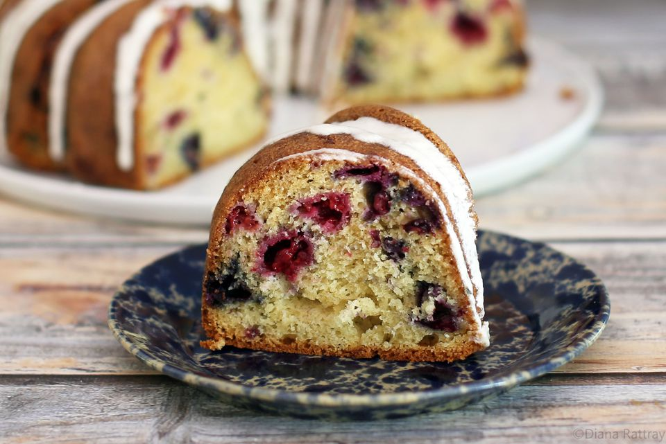 Raspberry and Blueberry Cake (Red, White, and Blue Cake)
