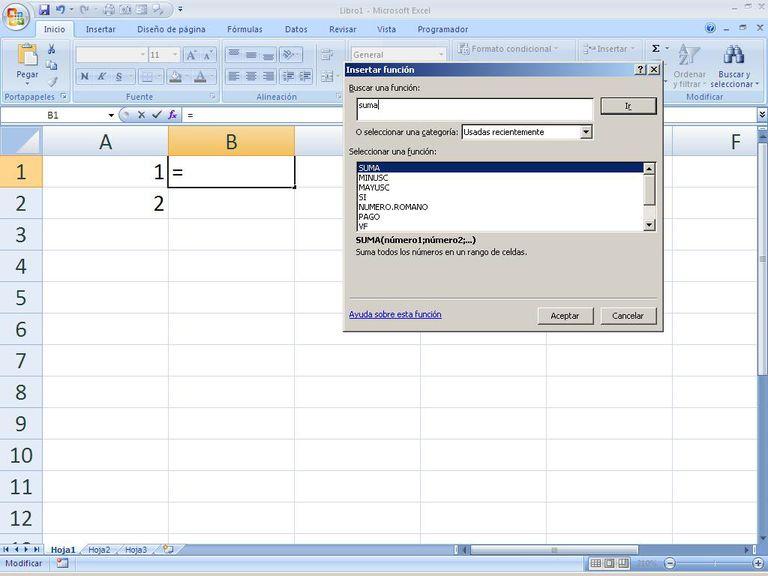 Funciones Excel por categorias