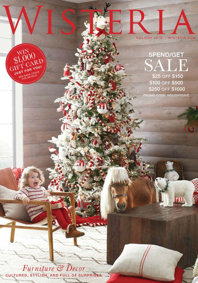 The cover of the Holiday 2016 Wisteria catalog.