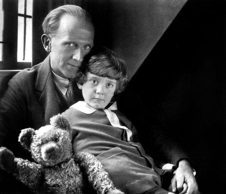 A.A. Milne with Christopher Robin Milne