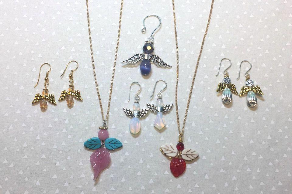 Beaded angel jewelry