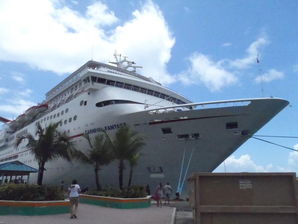 Carnival Fantasy at the Dock in Nassau in the Bahamas