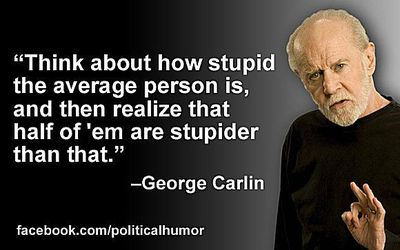 metabrilliant george carlin being perhaps not so brilliant at statistics