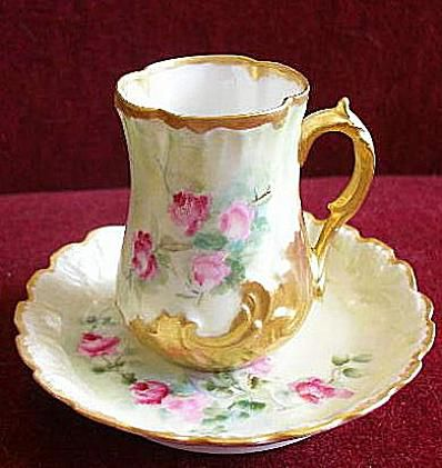 Redon Limoges Chocolate Cup & Saucer