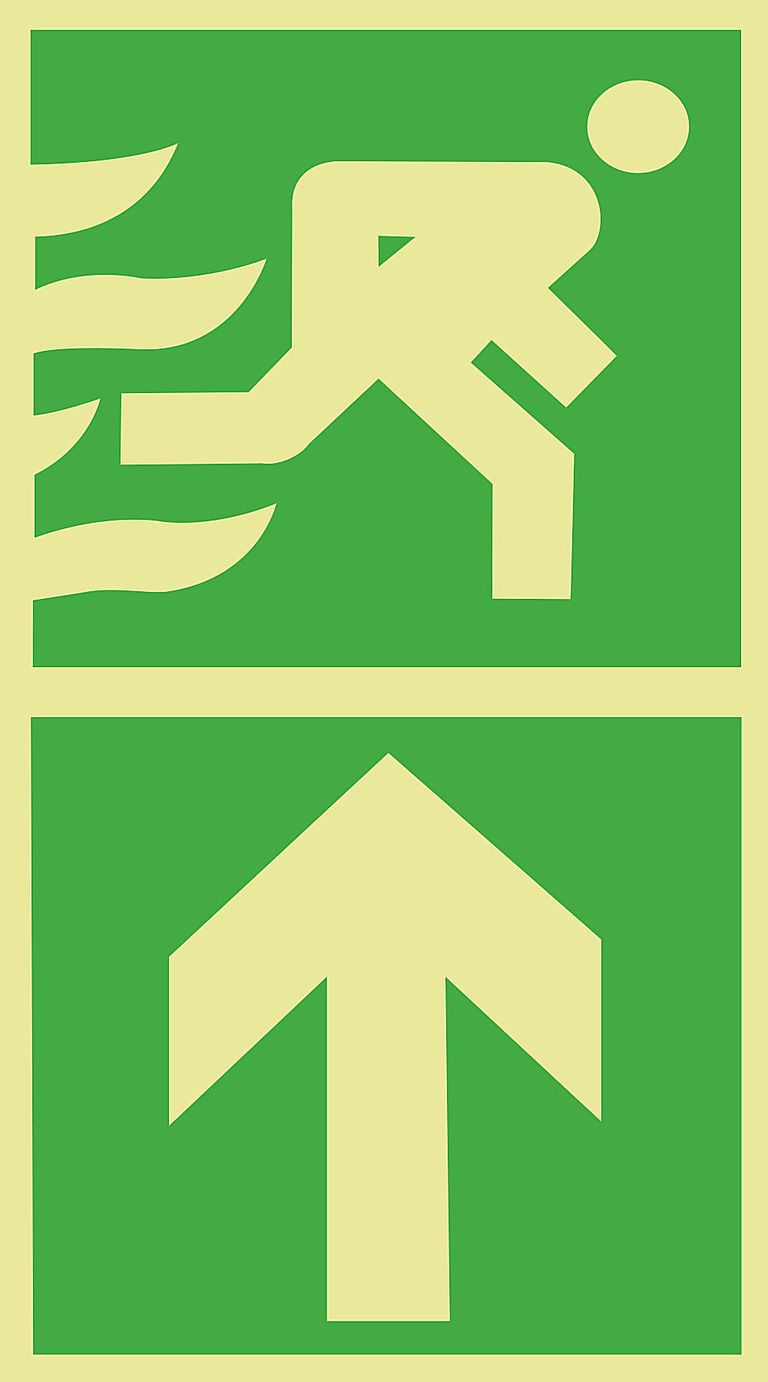 And general information signs our signs come in a variety of materials - This Sign Indicates The Direction Of The Emergency Escape Route Or Emergency Exit