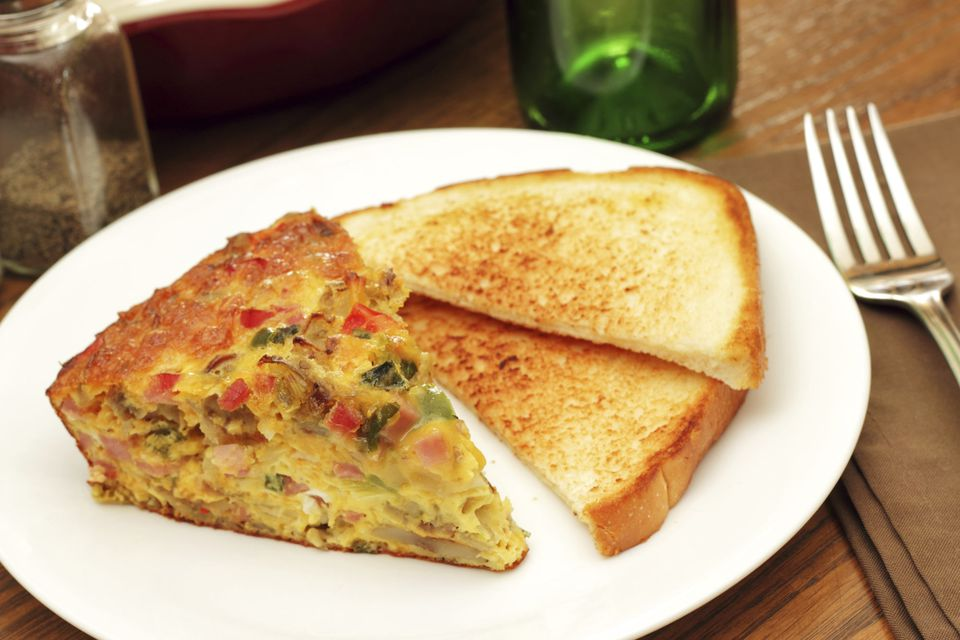 Breakfast Egg Casserole with Green Chile Peppers