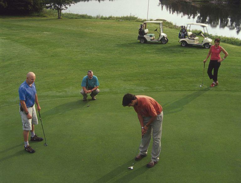4 golfers playing Arizona Shuffle tournament