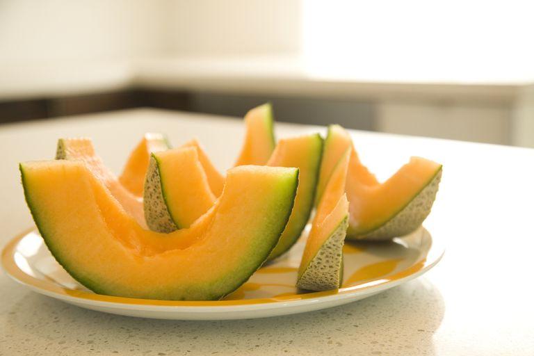 plate of cantaloupe