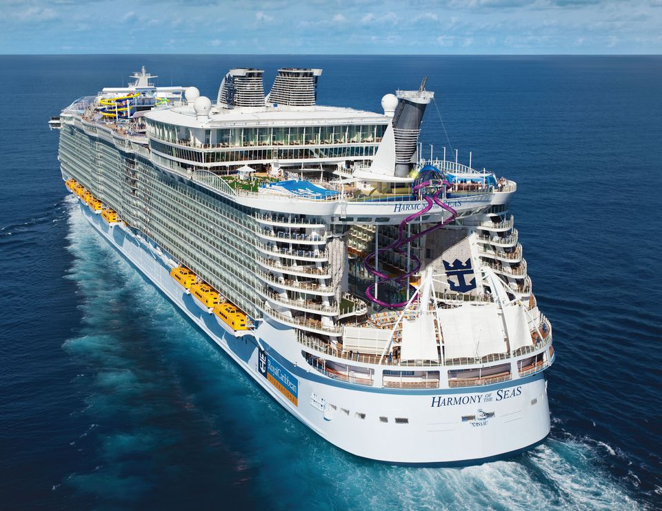 Aft view of the Harmony of the Seas cruise ship