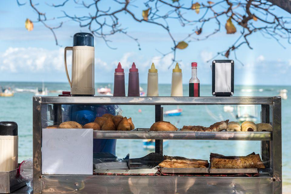 Food stall on Brazilian coast.