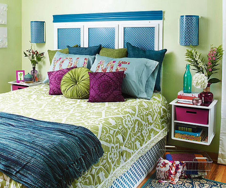 adorable purple green and blue bedroom - Bedroom Decorating Ideas Blue And Green