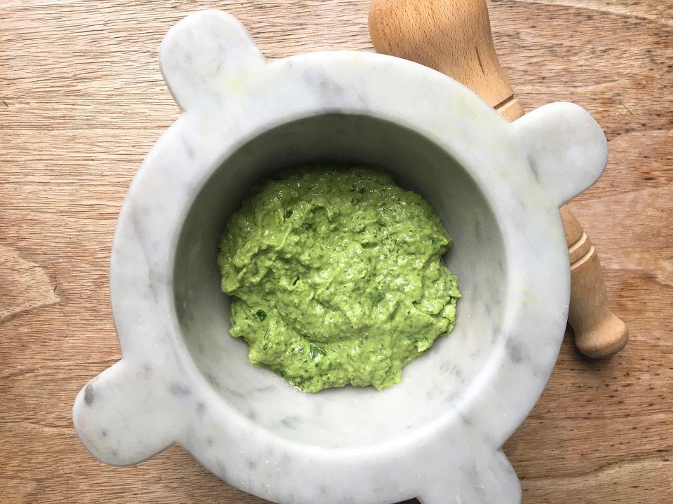 Basil Avocado Dairy-Free Pesto