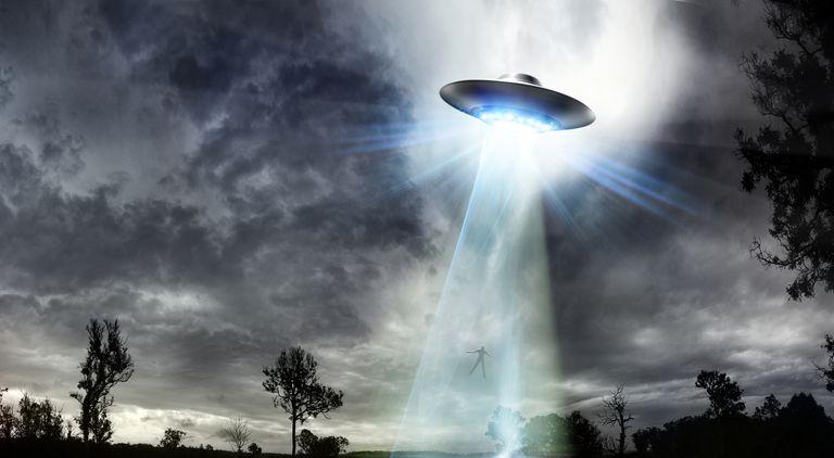 UFO Beaming up a Man
