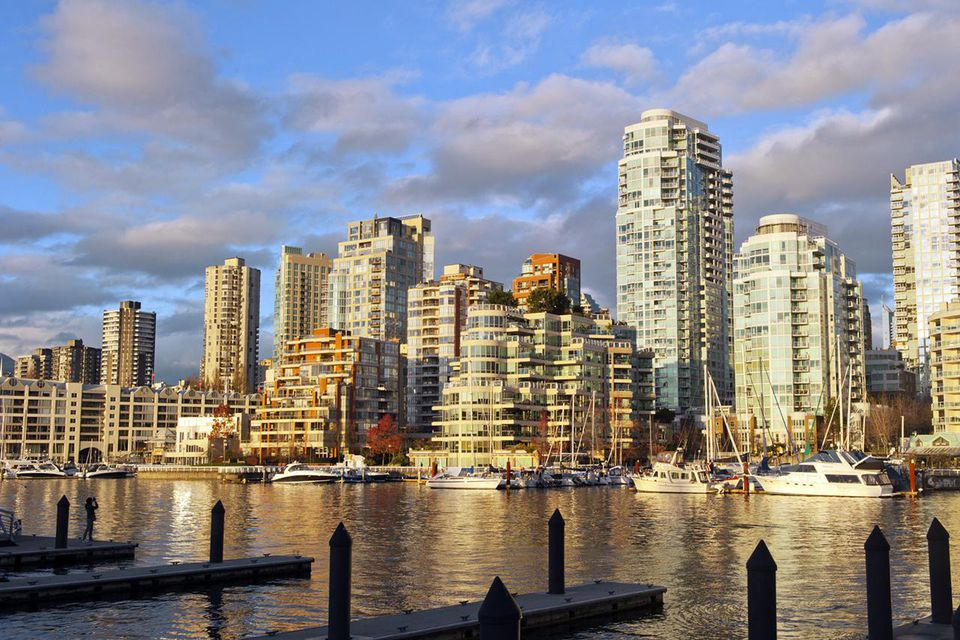 Yaletown at sunset, Vancouver BC Canada