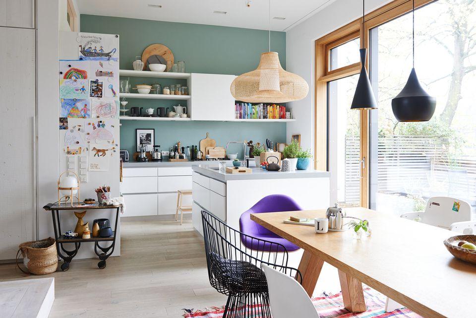 ultra violet chair in kitchen