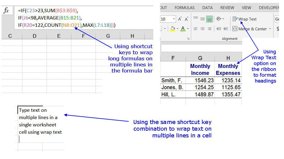 Show or Hide Formulas in Excel and Google Sheets
