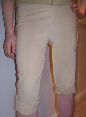 Turn Pants into Capri's