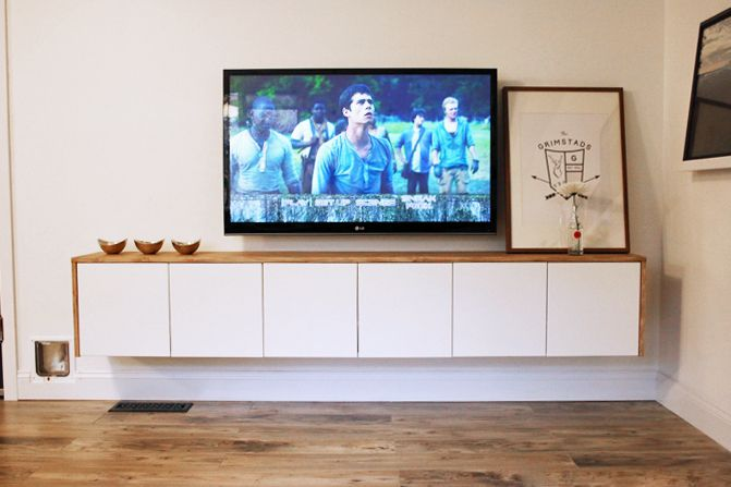 Ikea Hack: A DIY TV Console