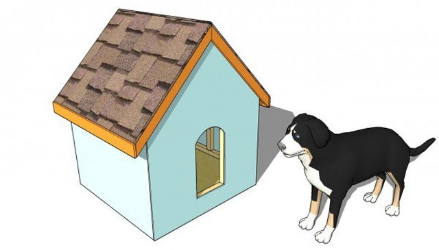 simple dog house plan by my outdoor plans