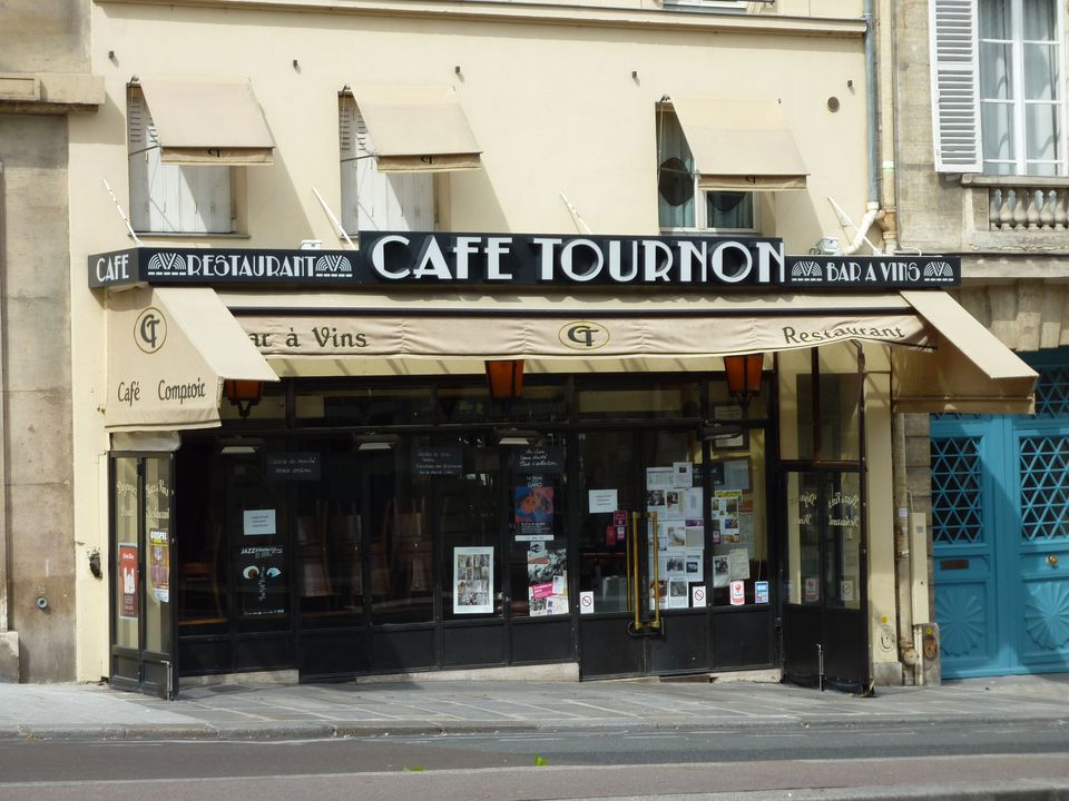 The Cafe Tournon was a regular meeting place of celebrated black artists and writers