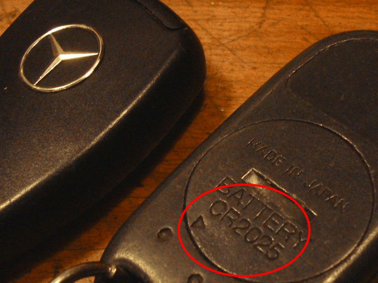 The Honda keyless remote has an easy access battery cover, Mercedes does not.