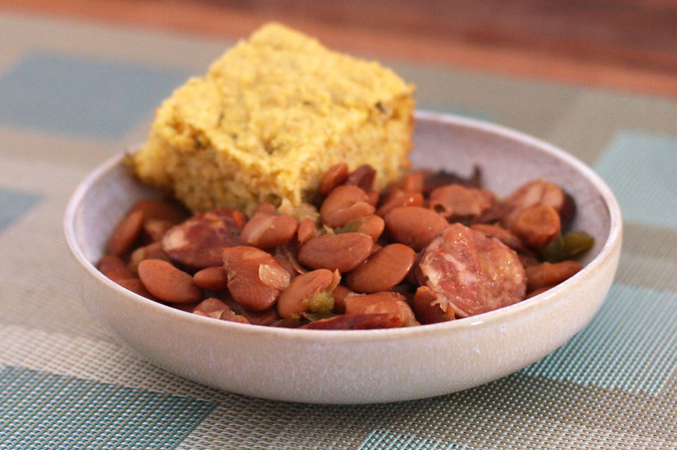Speckled Butter Beans with Andouille