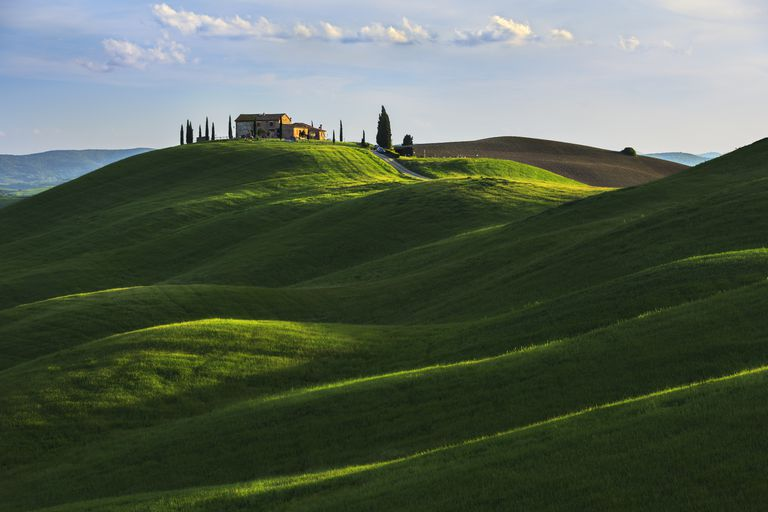 House on a hill in Tuscany