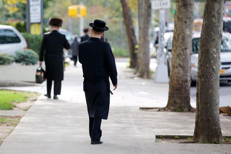 Young Hasid boy in Williamsburg, New York City