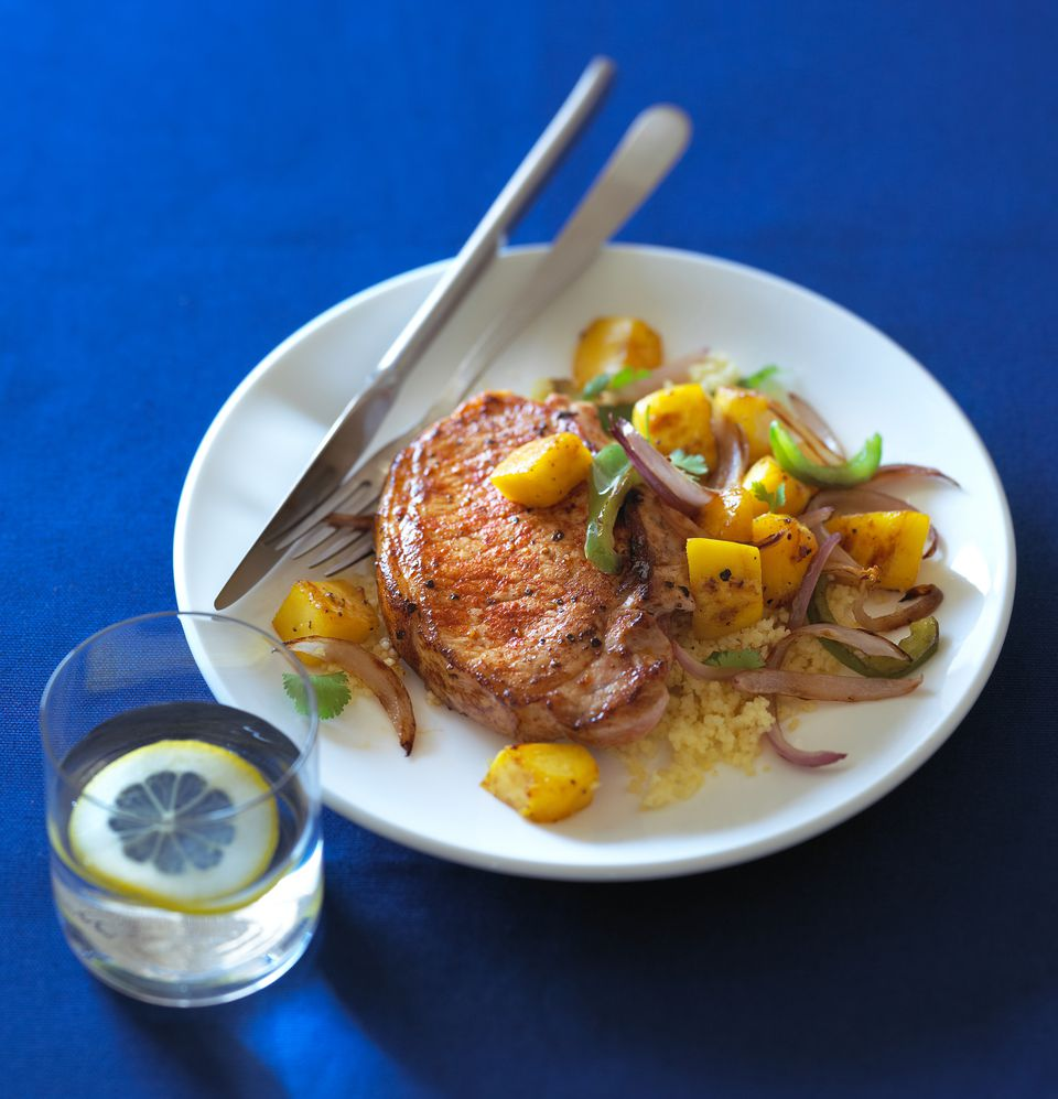 Mango and Paprika Pork Chops