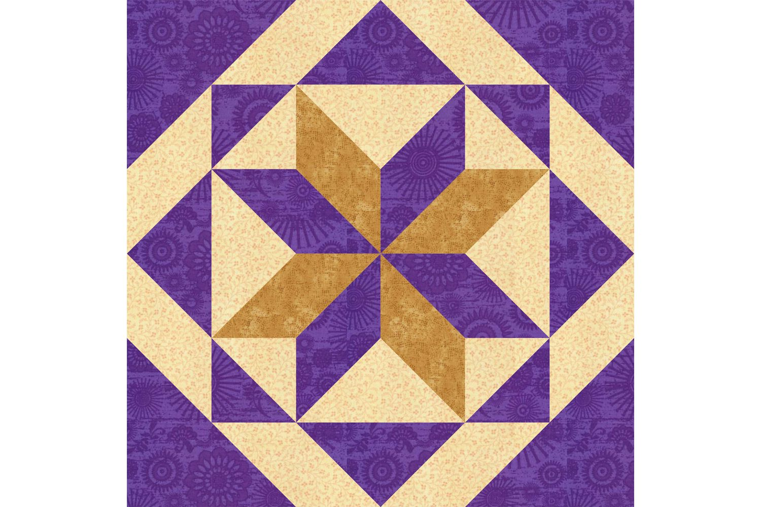Quilt Pattern With Different Size Blocks : All Hallows Quilt Block Pattern in 2 Sizes
