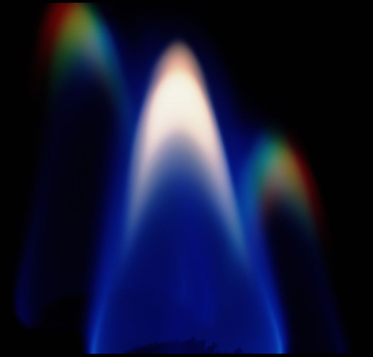 You can light a fire without using a match! Sugar is the fuel, while potassium chlorate is the oxidizer in the instant fire demo. Potassium and its compounds burn with a purple flame.