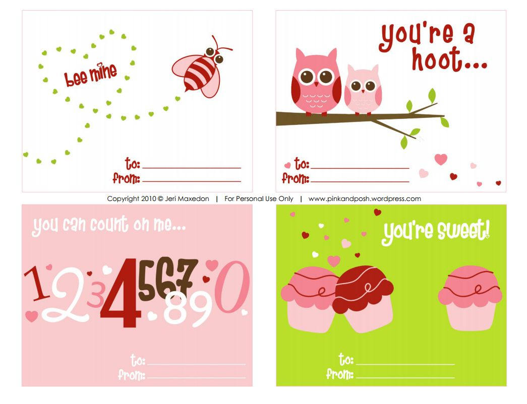 11 Free Printable Valentines for Valentines Day – Free Printable Funny Valentines Day Cards