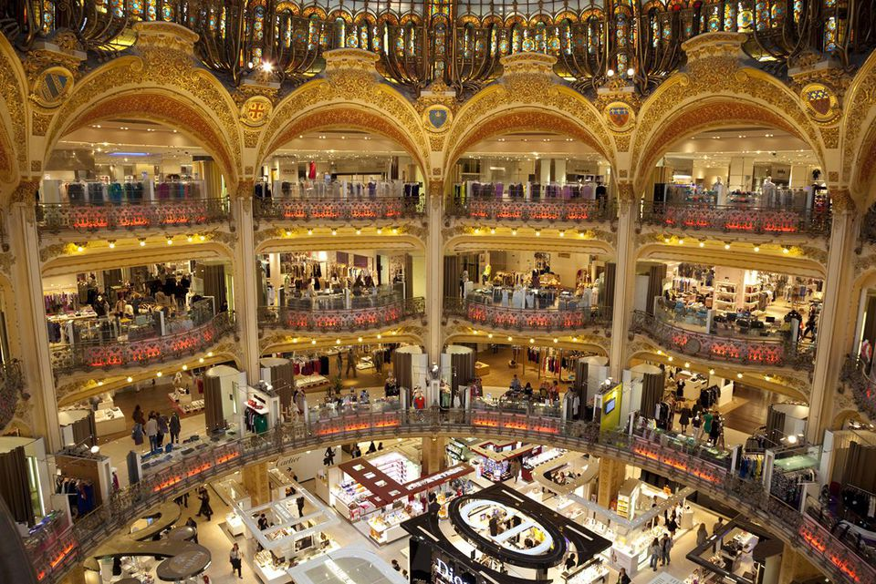 Paris, Galeries Lafayette department store