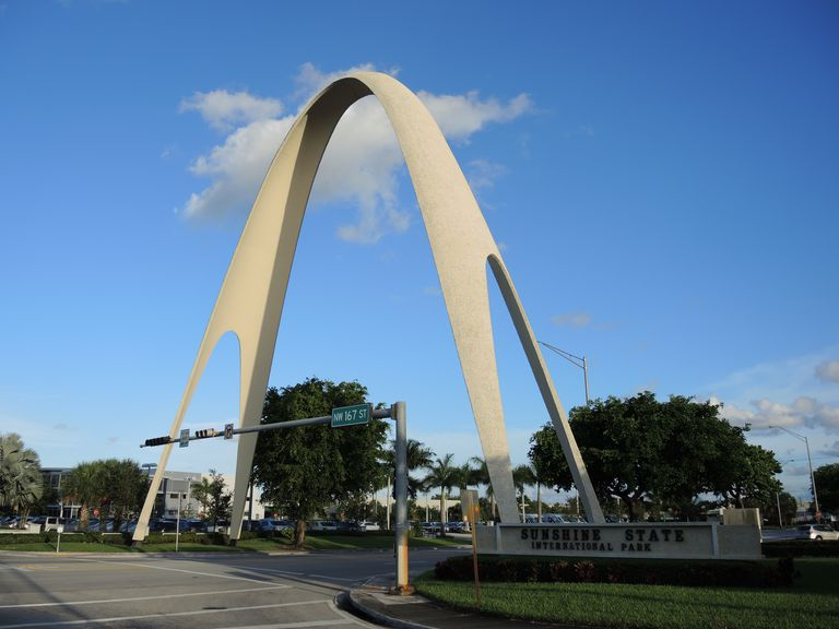 The Sunshine Arch in Miami Gardens, Florida,