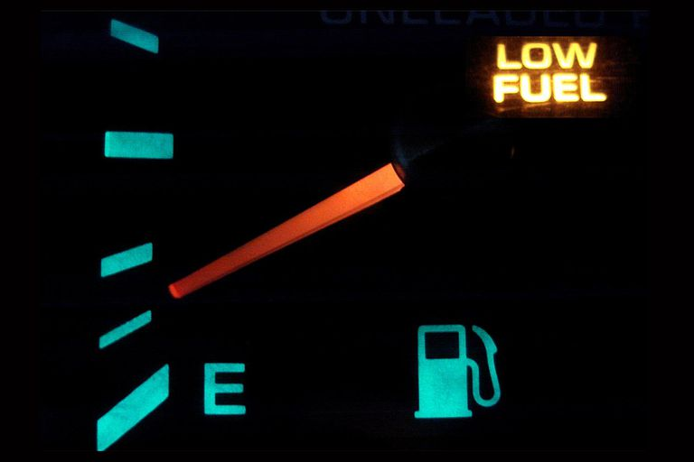 Nivel bajo gasolina