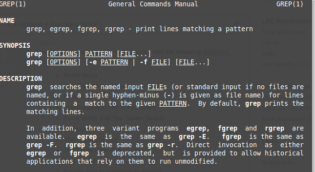 The Linux grep Command
