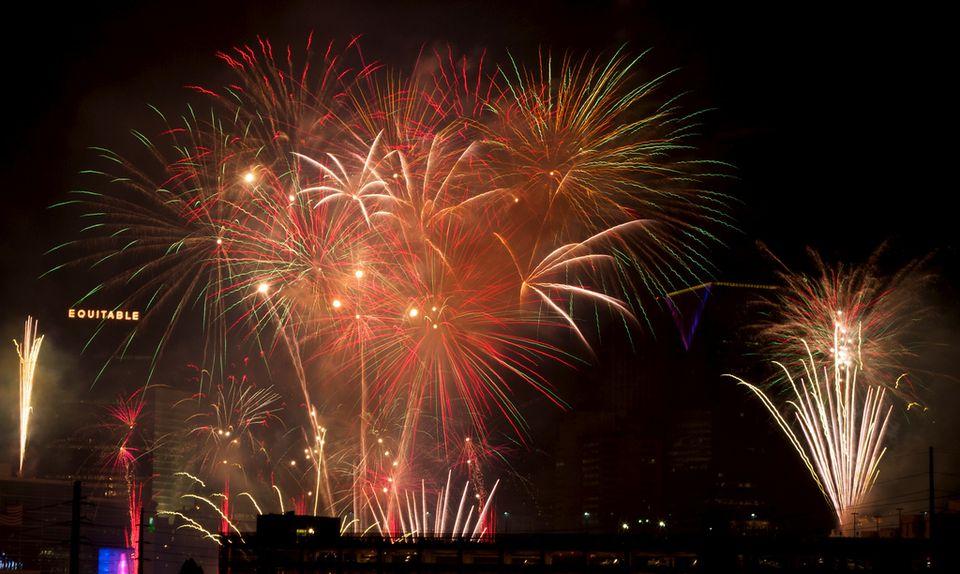 July 4th, 2010 Fireworks Show in Centennial Olympic Park in Atlanta, GA