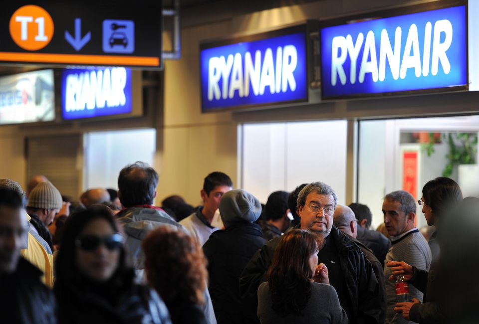 Ryanair ticket counter