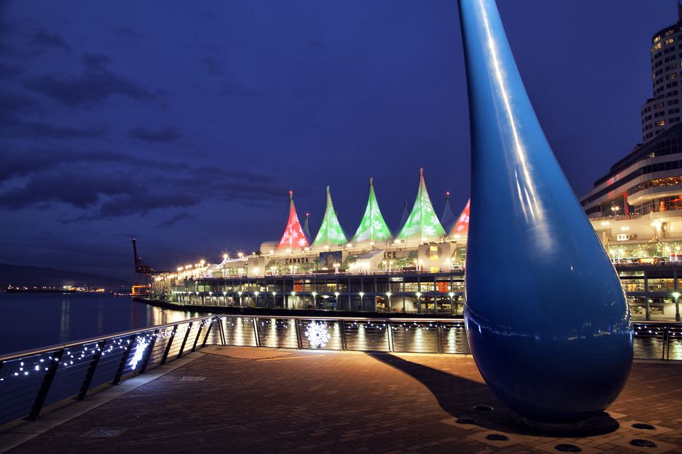 Canada Place at blue hour, Vancouver, Canada