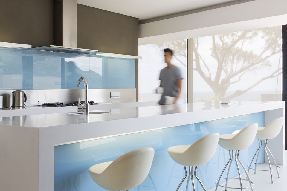 Sky Blue And Earth Colors Kitchen Feng Shui