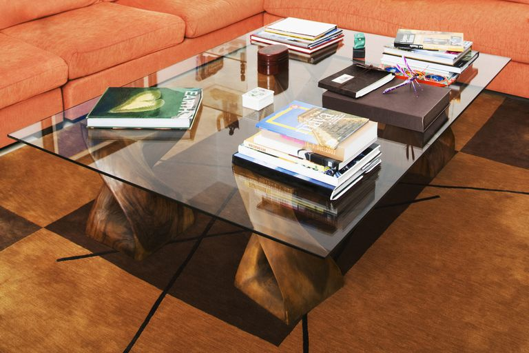Books on a table in a drawing room