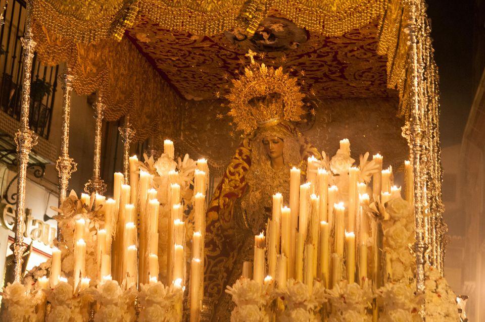Semana Santa procession in Granada, Spain